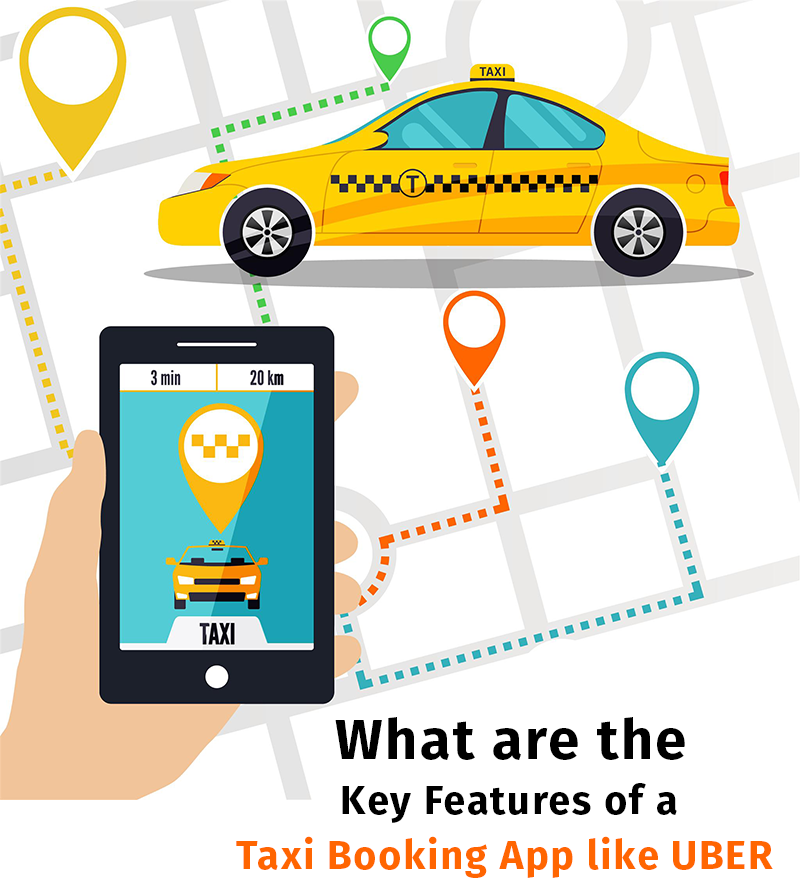 What are the Key Features of a Taxi Booking App like UBER